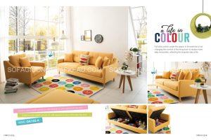Sofa giường nhập khẩu màu tươi sáng đem sức sống mới đến không gian sống của bạn