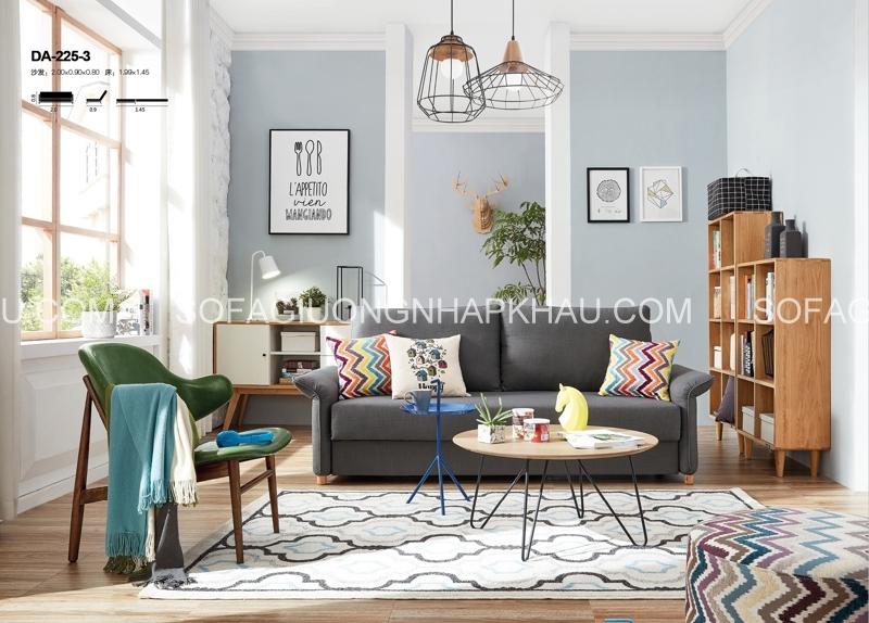 Bạn hãy chọn lựa màu sắc của sofa giường sao cho hài hòa với màu của tường và nền nhà