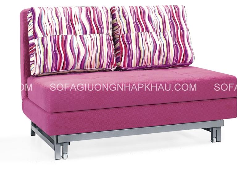 Đây là mẫu sofa giường đi văng nhỏ gọn xinh xắn, rất thích hợp với phòng khách có diện tích khiêm tốn