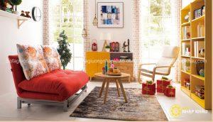 Sofa giường đa năng với thiết kế nổi bật cùng kiểu dáng gọn nhẹ dễ dàng tiết kiệm diện tích cho không gian phòng khách của bạn