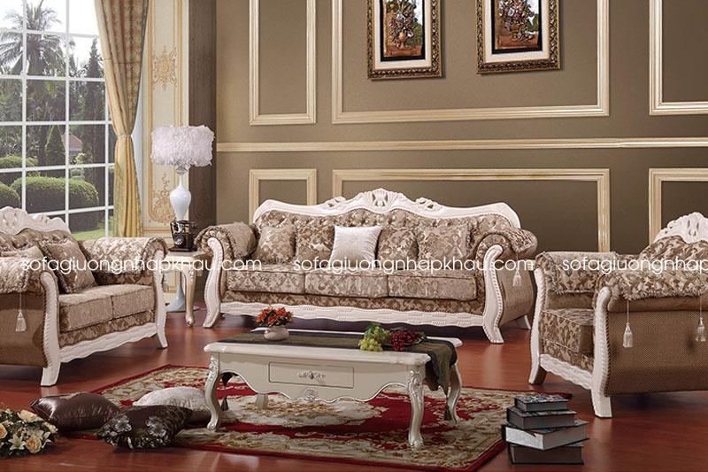 ghế sofa cổ điển bằng vải cao cấp