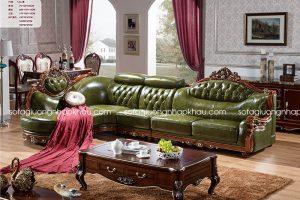 ghế sofa cổ điển bằng da thật