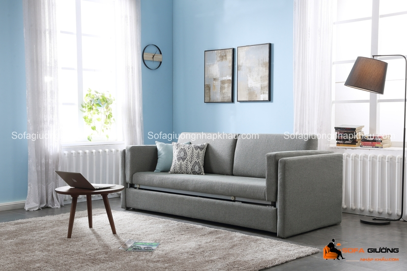 Đây là hình ảnh ghế sofa giường tầng khi ở trạng thái ghế, rất nhỏ gọn và xinh xắn