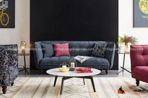 Thiết kế ấn tượng của chiếc sofa phòng khách này chính là điểm nhấn hoàn hảo cho phòng khách