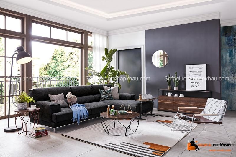 Đừng để phòng khách của bạn nhàm chán, chỉ cần một chiếc tường đen là đã có thể thay đổi phong cách rồi