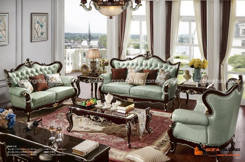 Bộ bàn ghế sofa phong cách cổ điển hết sức sang trọng và quyền quý
