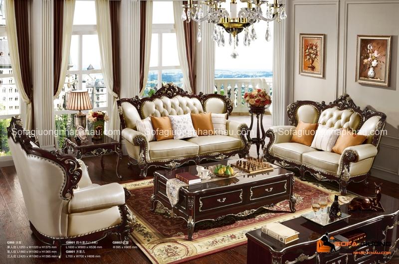 Bộ bàn ghế sofa cổ điển Châu Âu này sẽ tạo nên quyền lực mạnh mẽ cho người sở hữu