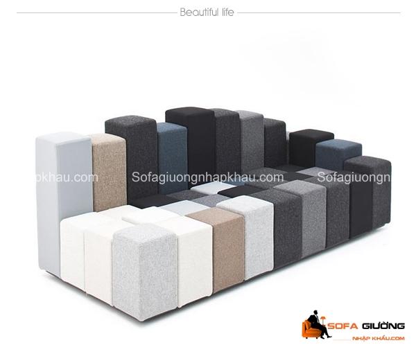 Được thiết kế dựa trên cảm hứng từ trò chơi puzzle quen thuộc, chiếc ghế sofa này khiến người xem phải ồ lên thích thú