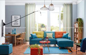 Màu sắc trẻ trung, năng động là ưu điểm của dòng ghế sofa này